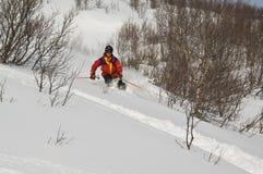 Het skiån van Offpist royalty-vrije stock afbeeldingen
