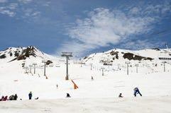 Het ski?en in Andorra Stock Foto's