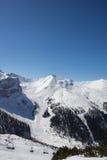 Het ski?en in Axamer Lizum in Tirol Oostenrijk Stock Fotografie