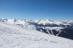 Het ski?en in Axamer Lizum in Tirol Oostenrijk Royalty-vrije Stock Afbeeldingen