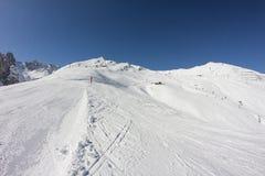 Het ski?en in Axamer Lizum in Tirol Oostenrijk Royalty-vrije Stock Foto's