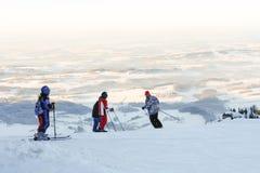 Het ski?en in Beierse Alpen II Royalty-vrije Stock Afbeeldingen