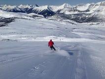 Het ski?en in een zonnige dag Royalty-vrije Stock Foto's