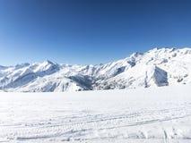 Het ski?en in Franse alpen Royalty-vrije Stock Foto's