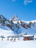 Het ski?en helling Stock Foto's
