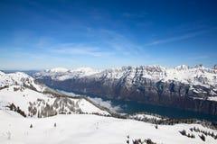 Het ski?en helling Stock Fotografie