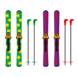 Het ski?en illustratie Stock Foto