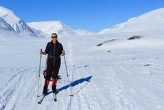 Het ski?en Kungsleden stock afbeeldingen