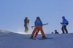 Het ski?en les royalty-vrije stock afbeelding