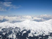 Het ski?en toevlucht in Lenzerheide, Grisons, Zwitserland Stock Foto