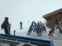 Het ski?en zitkamer Royalty-vrije Stock Afbeeldingen