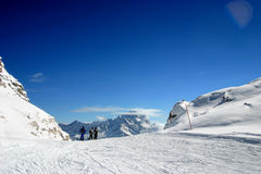 Het skigebied Stock Afbeeldingen