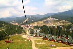 Het skiån stoellift Stock Foto