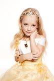 Het slachtoffer van de manier weinig portret van het prinsesmeisje Stock Fotografie