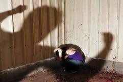 Het slachtoffer van het geweld Stock Fotografie