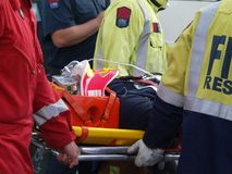 Het Slachtoffer van het ongeval Royalty-vrije Stock Afbeelding