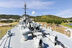 Het slagschip in de tuin Stock Fotografie