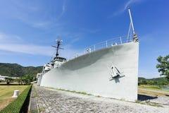Het slagschip in de tuin Royalty-vrije Stock Afbeeldingen