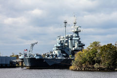 Het Slagschip Noord-Carolina van Verenigde Staten Royalty-vrije Stock Afbeeldingen