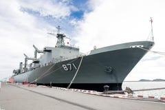 Het slagschip van Thailand stock foto's