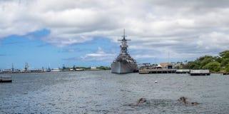 Het slagschipmuseum van USS Missouri Stock Afbeelding