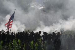 Het Slagveld van de Burgeroorlog Stock Foto