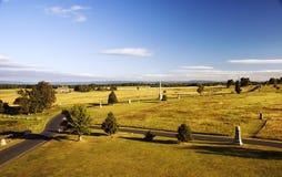 Het Slagveld van Gettysburg vanaf Bovenkant van het Monument van Pennsylvania Stock Fotografie