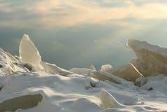 Het slagveld van het ijs Stock Foto