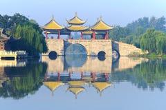 Het slanke Meer van het Westen in Yangzhou Stock Afbeeldingen