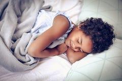 Het slapen in Bed royalty-vrije stock foto