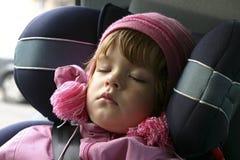 Het slapen in een auto Royalty-vrije Stock Foto