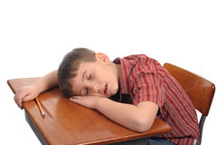 Het slapen in klasse Royalty-vrije Stock Foto's