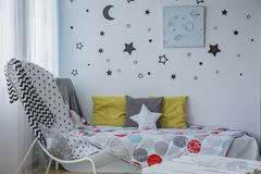 Het slapen onder de sterren royalty-vrije stock foto