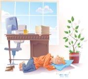 Het slapen op het werk Stock Foto's