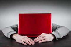 Het slapen op Laptop Stock Fotografie