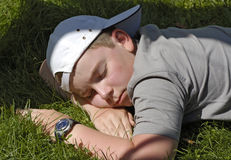 Het slapen in tuin Royalty-vrije Stock Fotografie