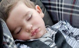 Het slapen van één éénjarige Stock Foto