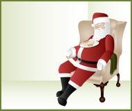 Het Slapen van de kerstman royalty-vrije illustratie