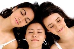 Het slapen van vrienden Stock Afbeelding