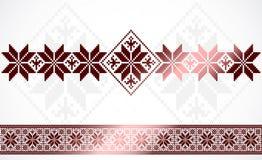 Het Slavische patroon van de het malplaatjedecoratie van het borduurwerkornament Royalty-vrije Stock Fotografie