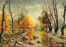 Het slechte weer van de herfst stock illustratie
