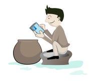 Het slimme concept van de telefoonverslaving Stock Foto's