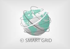 Het slimme concept van het machtsnet voor energiesector Stock Foto