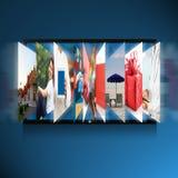 Het slimme scherm van TV Royalty-vrije Stock Foto