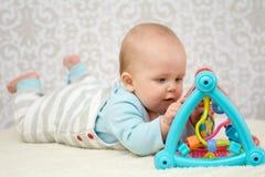 Het slimme Meisje van de Baby Stock Afbeelding
