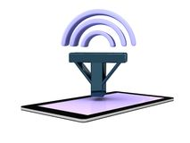 Het slimme pictogram van het het netwerksignaal van telefooncellphone Royalty-vrije Stock Fotografie