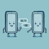 Het slimme telefoon spreken Stock Foto's
