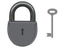Het slot en de sleutel Royalty-vrije Stock Foto