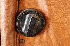 Het slot op de deur royalty-vrije stock afbeelding