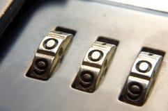 Het slot van de aktentas Royalty-vrije Stock Foto's